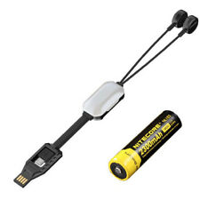 Combo: Nitecore Lc10 Portable Magnetic Usb Battery Charger w/Nl183 18650 Battery