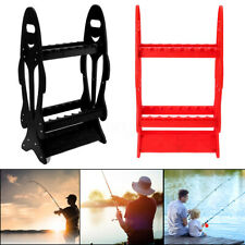 16 Rods Fishing Rod Rack Stand Combos Storage Organizer Pole For Rests Red/Black