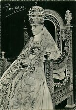Pope Pius XII photo postcard
