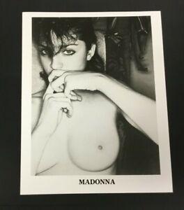 RARE Original 1985 Madonna Promo Press Photograph Black & White Sexy Vintage