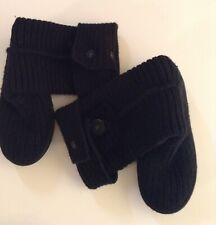 UGGS BLACK TALL KNIT SWEATER SHEEPSKIN BOOTS SIZE 6