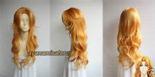 Bleach Rangiku Matsumoto wavy Long Cosplay Costume Wig Free Ship +Wig CAP
