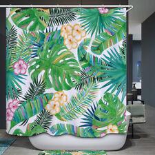 Tropisch Blätter Wasserfest Duschrollo Duschvorhang Bade Wannenvorhang Sommer