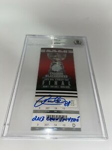Patrick Kane Autographed 2013 Stanley Cup Ticket w Conn Smythe Fanatics Beckett