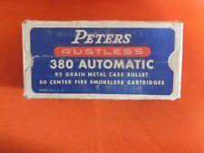 Vintage Peters Rustless 380 Automatic Ammo Box Empty Du Pont 1950s - 1960s?