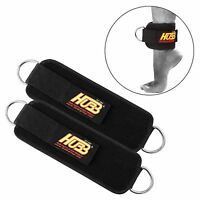 Ankle D-Ring Pulley Cable attachment Thigh Leg Weight Lifting Strap Pair HG-601