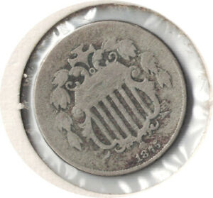 1875 SHIELD NICKEL 5 CENT SCARSE DATE