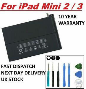 New Battery for iPad Mini 2 3  With Free Tool Kit Full Capacity 100% 6471mAh Uk
