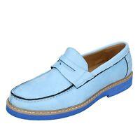 scarpe uomo SOLO SOPRANI mocassini blu camoscio sintetico DT812