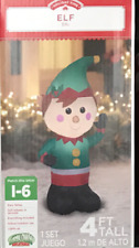 Airblown Inflatable Elf 4ft tall by Gemmy Holiday Time Yard Decor