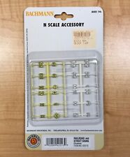 "BACHMANN #42513 ""N"" SCALE RAILROAD & STREET SIGNS(24 PCS) (NEW IN PACKAGE)"