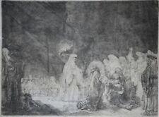 Rembrandt van Rijn (1606-1669) Original 1639 gravure sur papier SUPERBE-Simeon