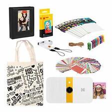 KODAK Smile Instant Print Digital Camera (White/Yellow) Starter Kit