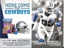 2017 NFL Dallas Cowboys official pocket schedule Jason Witten 82 Tostitos