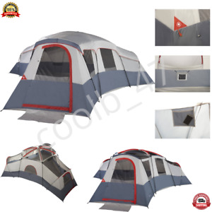 3-Entrance 20-Person Cabin Tent with 4-Rooms and 3 Removable Room Dividers