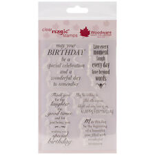 Woodware Clear Stamps - Delightful Verse - Card Making Sentiments / Greetings
