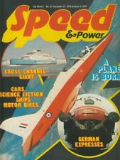SPEED &  POWER ISS 41 1974-HAWK TRAINER PLANE-1937 MERCEDES 125-FAIREY SWORDFISH