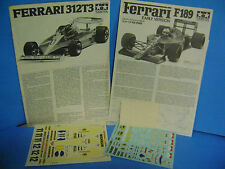 FOGLI ISTRUZIONI e DECALS X F.1TAMIYA KIT FERRARI T 3/ F1 .189