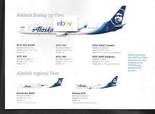 ALASKA AIRLINES-HORIZON FLEET CHART B737-900ER Q-400 ERJ E175 NEW LIVERY