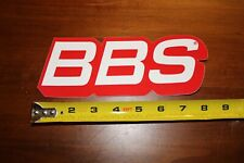 """BBS Wheels Red and White sticker. Approximately 3.25"""" X 8"""".   New."""