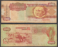 Angola 500000 Kwanzas 1991 (F-VF) Condition Banknote P-134