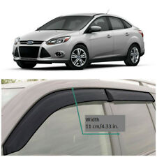 Wide Window Visors Side Sun Guard Vent Deflectors For Ford Focus Sd/Hb 2012-2016