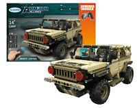 538 Pieces Military Army Jeep Remote Control Building Block Set