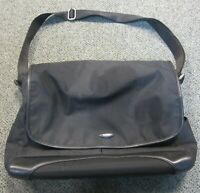TUMI Black Canvas Crossbody Messenger Bag w Separate Laptop Section