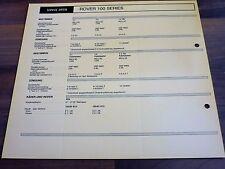 ROVER Serie 100 Service Daten 1990 original Inspektionsblatt WERKSTATT HANDBUCH