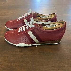 Bally Womens Sneakers Size 7 Red Leather 37.5 EU Made in Italy EUC
