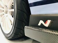 Hyundai i30N Logo Pair - Epoxy Raised 3D Sticker/Decal i30n Turbo Race Veloster