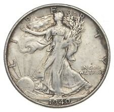 XF+ 1940-S Walking Liberty 90% Silver US Half Dollar - NICE COIN *884