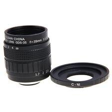 Fujian 35mm F1.7 CCTV Movie lens +C Mount to Nikon AW1 S2 J4 V3 J3 V2 V1 J1 J2
