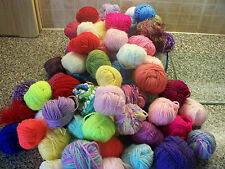 KNITTING WOOL SMALL BALLS 300 GRMS MIXED LOT