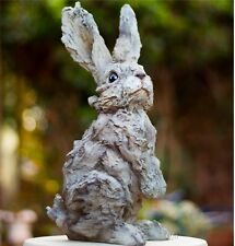 Sitting Hare Rabbit Wood Effect Sculpture Bunny Figure Ornament Gift Garden
