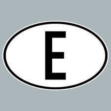 Sticker Esp It Spain Country Codes Car Bus Lorry Shield Characters