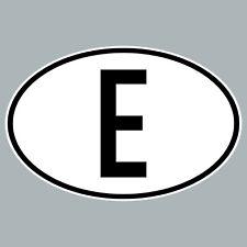 E Aufkleber Sticker ESP ES Spanien Länderkennzeichen Auto Bus Lkw Schild Zeichen