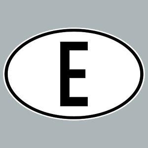 E Aufkleber Auto Sticker ESP ES Spanien Zeichen Länderkennzeichen 4061963019832