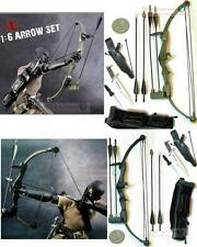 1:6 Scale Action Figure RAMBO STALLONE BOW ARROW KNIFE HOYT ARCHERY SET2 BOW_B+G