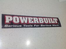 POWERBUILT TOOLS  RACING STICKER V8 DRAG DRIFT MUSCLE TOYOTA FORD CAR NASCAR