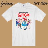 New Gilligan's Island Logo Men's White T-Shirt Size S to 3XL