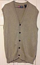 Chaps Sweater Vest Medium Button Up