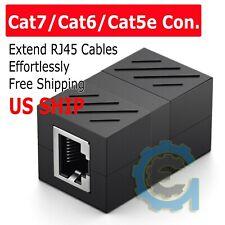 RJ45 Inline Coupler Cat7/Cat6/Cat5e Ethernet Network Cable Extender Connector US