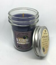 BATH & BODY WORKS Blackberry Bramble Tea 6oz Mason Jar Single Wick Candle Spice