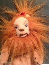 "Warner Bros Wizard of Oz COWARDLY LION 9-10"" Plush Beanbag beanie Doll Toy 1998"