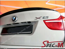 2008+ BMW X6 E71 Model Painted 668 Black Performance M Style Trunk Lip Spoiler
