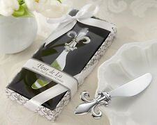 Stainless-Steel Fleur de lis Spreader-Gift Boxed