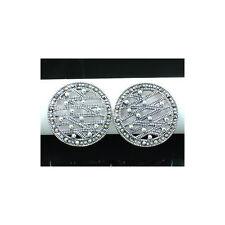 Marcasite & 925 Sterling Silver Stud Earrings