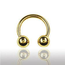 1,6mm Gold Piercing Hufeisen Circular Barbell Ohr Lippe Brust Septum