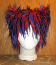 KITTY CAT RED EAR FUR HAT ELECTRO EDM CYBER FESTIVAL HALLOWEEN WIG ANIME COSPLAY